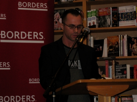 David J Williams The Mirrored Heavens Science Fiction Novel Reading at Borders Books
